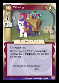 My Little Pony Whining Absolute Discord CCG Card