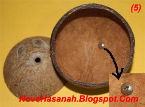 langkah-langkah dan cara membuat kerajinan tangan wadah multigunan dari batok (tempurung) kelapa yang sangat mudah untuk anak-anak 7