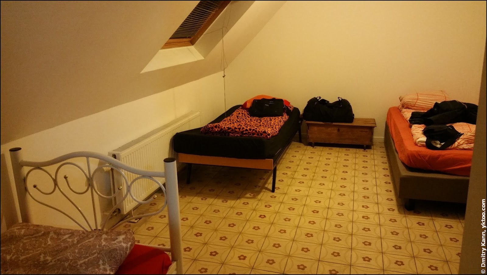 Our hotel room in Brussels.