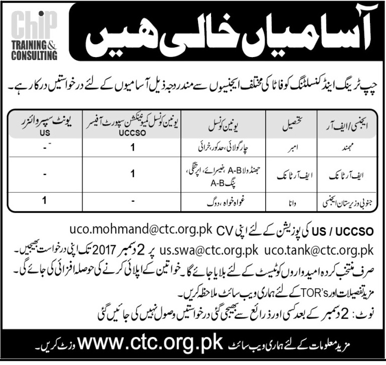 Jobs In Chip Training And Consulting Fata Nov 2017
