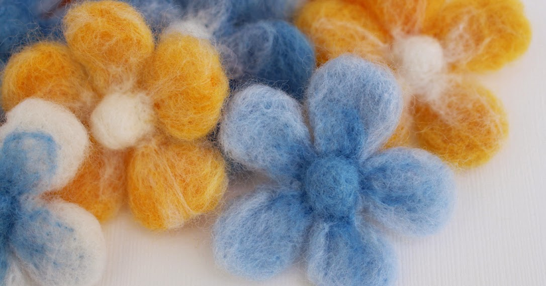 Easy Needle Felted Flowers Craft Me Happy Easy Needle Felted Flowers
