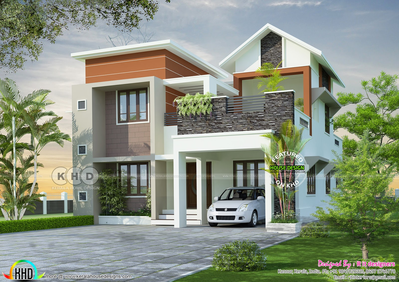 April 2018 kerala home design and floor plans for Home construction cost