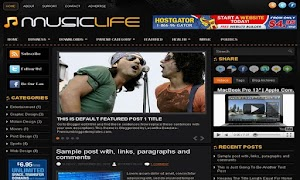 MusicLife 3 Column Blogger Template