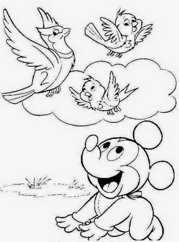 Coloring Pages: Mickey Mouse Coloring Pages Free and Printable