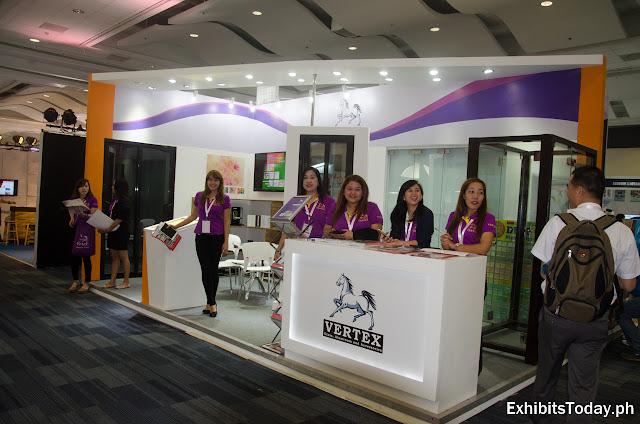 Vertex exhibition booth