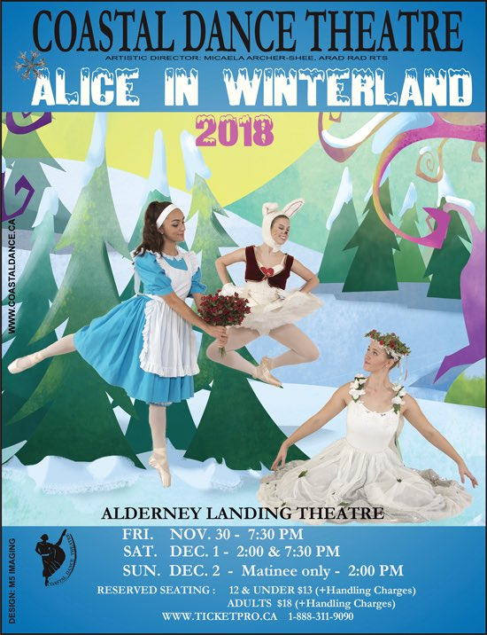 Coastal Dance Theatre Alice in Winterland.