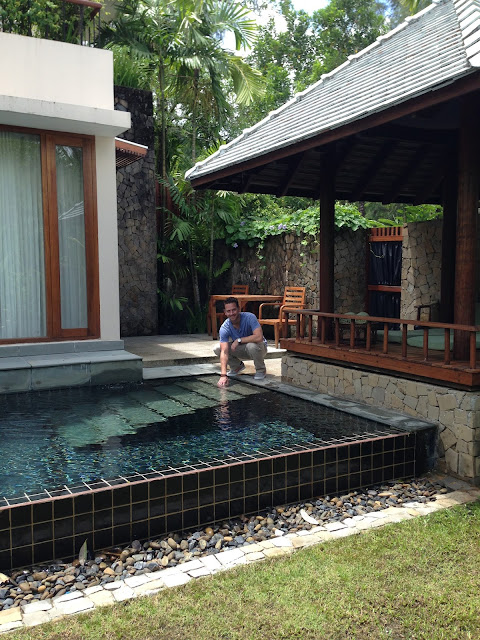 The plunge pool in The Sarojin Pool Residence
