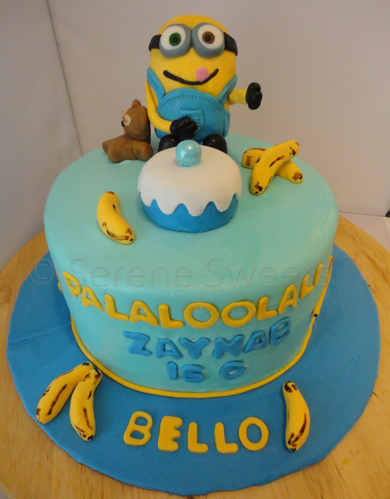 Serene Sweets Minion Bob Cake - Happy birthday bob cake