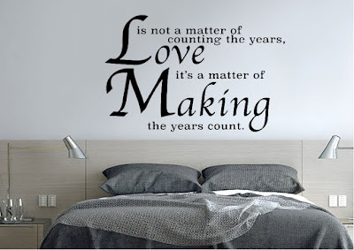 Quotes That Will make Love With Everything: Is not a matter of counting the years, love it's a matter of making the years count?
