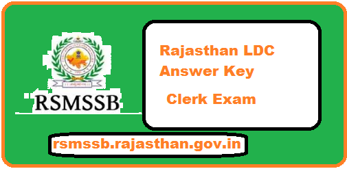Rajasthan LDC Answer Key 2018