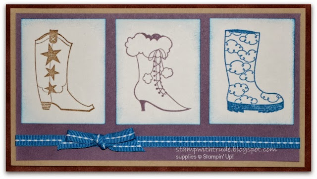 Bootiful Occasions, Stamp with Trude, Stampin' Up!, birthday card, boot