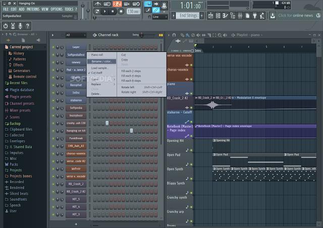 تحميل برنامج دمج الاغاني للكمبيوتر مجانا FL Studio 12.4