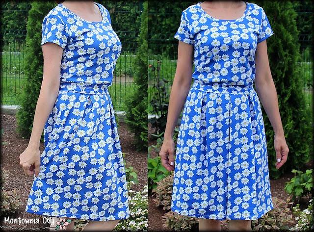 sukienka bez wykroju