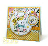 Di's Digi Stamps Bunny image Easter card, design by Paperesse.