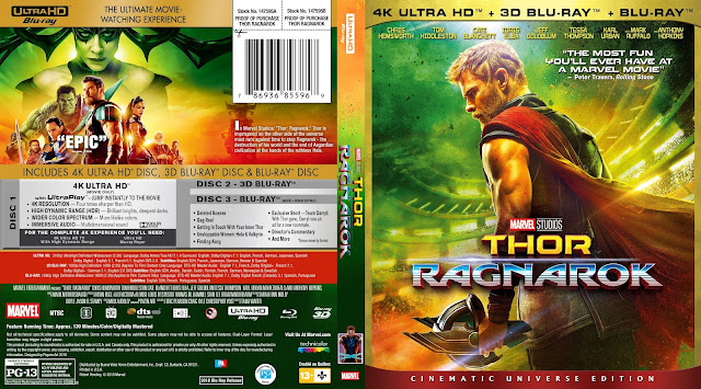 Thor Ragnarok 4k Bluray Cover