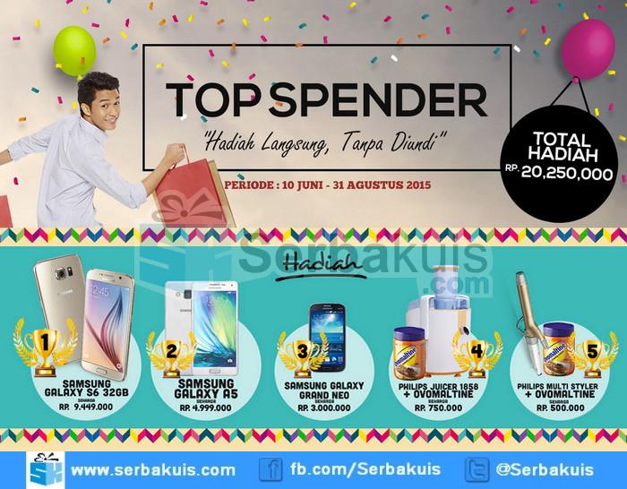Promo Lakupon Top Spender Berhadiah SAMSUNG Galaxy S6