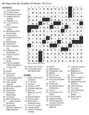 The New York Times Crossword in Gothic: 12.15.12 — The