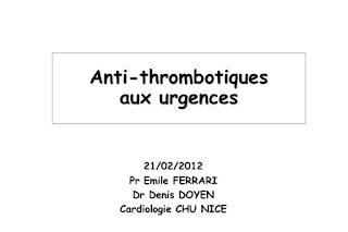 Anti-thrombotiques aux urgences .pdf