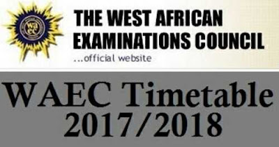 WAEC Releases Timetable For May/June 2017 Examinations