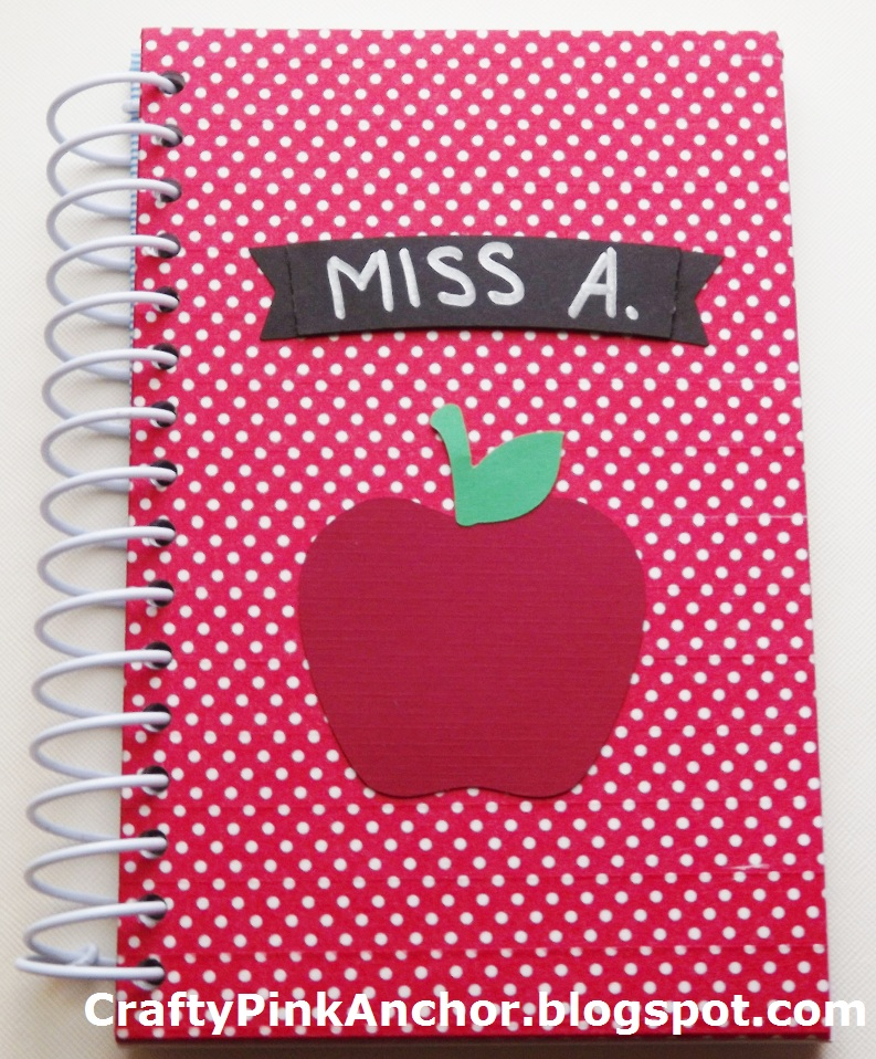 Crafty Pink Anchor: DIY Back To School Notebooks