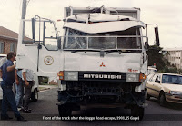The front of the truck used to escape from No.1 Division, Boggo Road Gaol, Brisbane, 1991.
