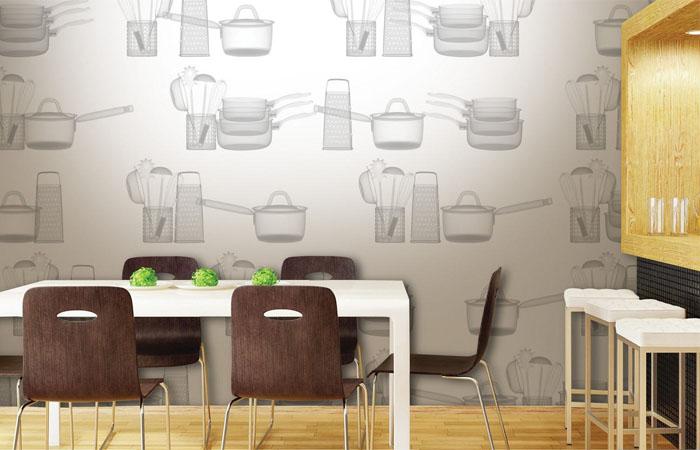 mutfak araç gereçli duvar kağıdı örnekleri
