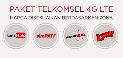 Paket Telkomsel 4G LTE