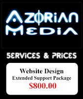 "AzM: Website Design- ""Extended Support"" $800.00"