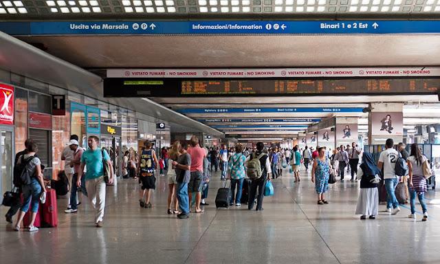 Estações de trem em Roma e em toda a Itália