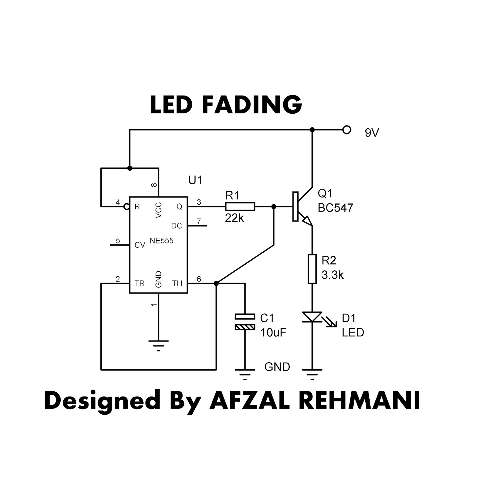 Wellcome To 360 Circuits: How to fade an LED