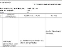 Kisi Kisi UTS IPS Kelas 8 Semester 1/ Ganjil