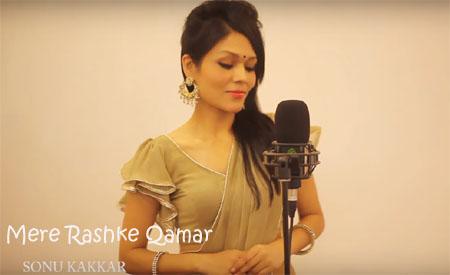 Mere Rashke Qamar Lyrics - Sonu Kakkar | Female Cover