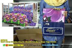 Sprei Luxury Kintakun King B2 180x200xT25 Gloria Bunga Ungu Dewasa