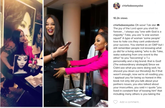 Adaeze Yobo lauds Toke for writing her book 'On Becoming'