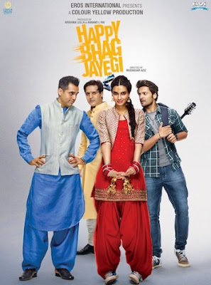 Poster Of Bollywood Movie Happy Bhaag Jayegi (2016) 100MB Compressed Small Size Mobile Movie Free Download worldfree4u.com