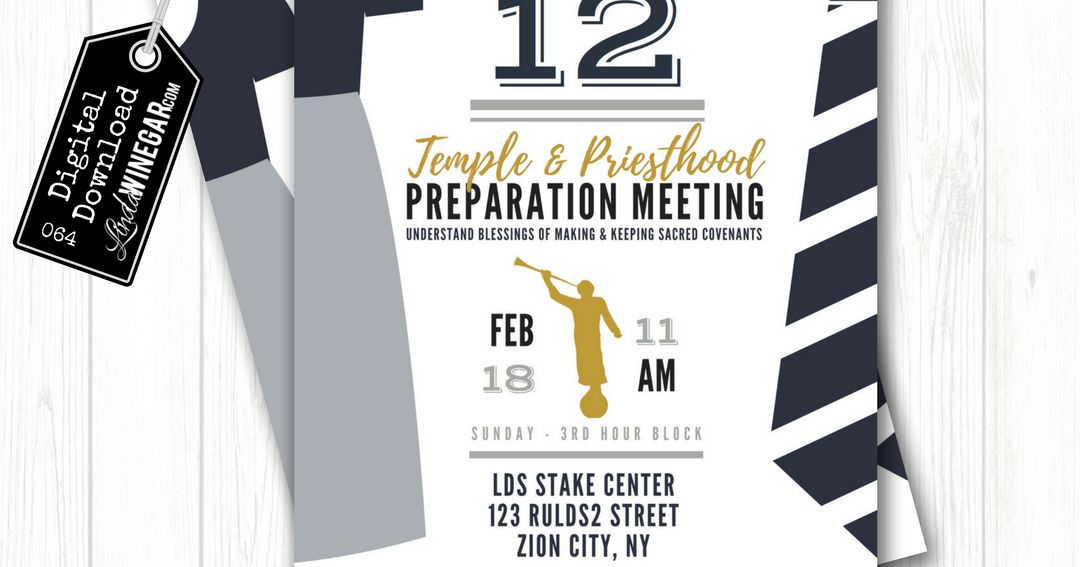How to Plan a Simple Temple & Priesthood Prep Meeting