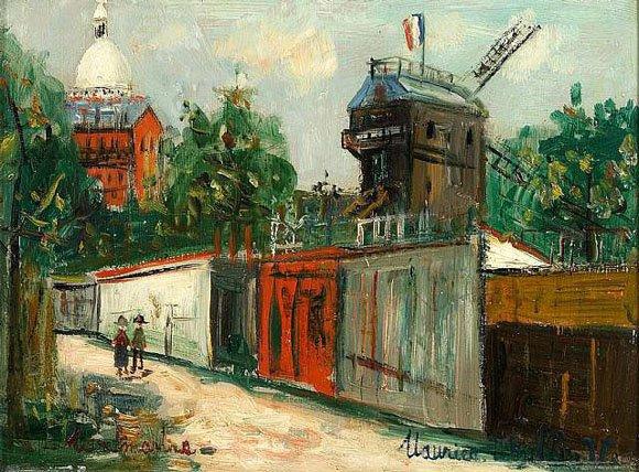 Vue de Montmartre par Maurice Utrillo