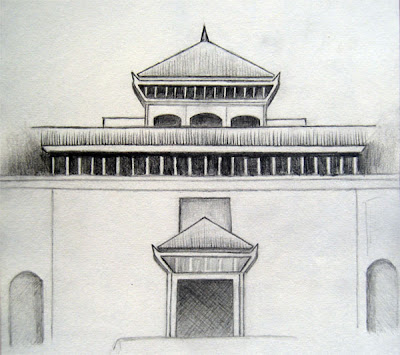Sketch of Birendra International Conference Center (BICC)