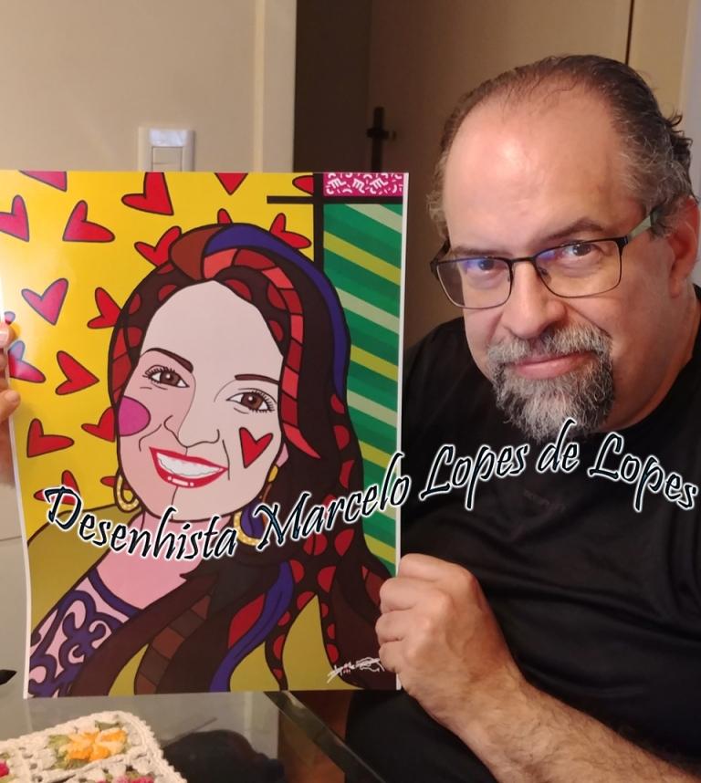 A arte do Desenhista Marcelo Lopes de Lopes