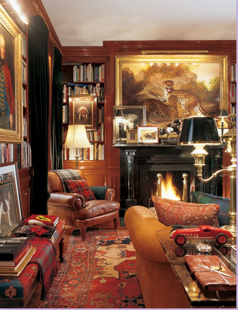 The Collected Interior Mixing Pattern Texture: STYLE CODE: Interior Inspiration: Ralph Lauren Fall Home