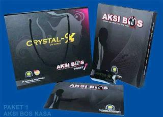 AKSI BOSS PAKET 1 CRYSTAL X NASA