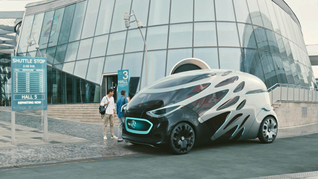 Mercedes-Benz Vision Urbanetic Autonomous Pods – The Mobility Of The Future.