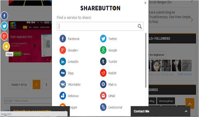 cara menambahkan widget social share vertical responsive