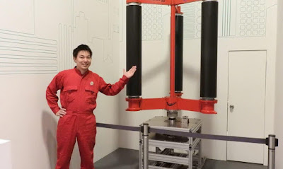 El primer aerogenerador per tifons del món que podria generar l'energia del Japó durant 50 anys