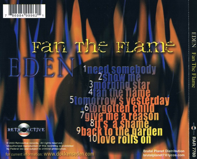 EDEN - Fan The Flame (1994) [remastered] back