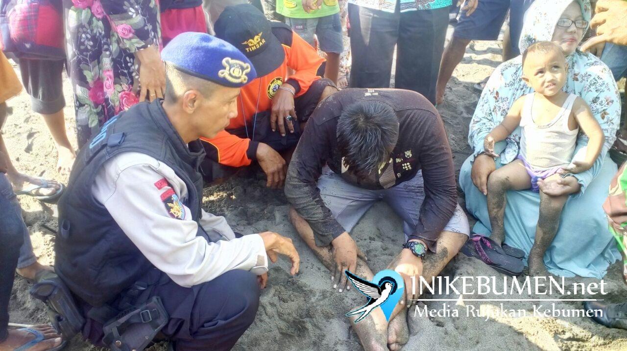 Nekat Mandi di Laut, Pelajar Asal Sempor ini Nyaris Tewas Digulung Ombak Pantai Bopong