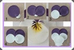 Polimer Kilden Menekşe Çiçeği Yapımı, Resimli Açıklamalı 1
