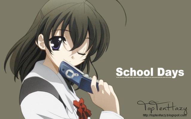 Sekai Saionji (School days) 10 yandere nổi tiếng trong anime