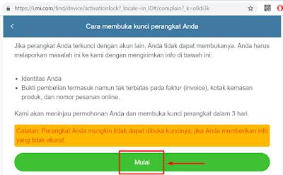 Cara unlock micloud gratis resmi