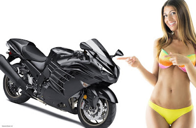 Kawasaki Ninja ZX-14R with model image HD